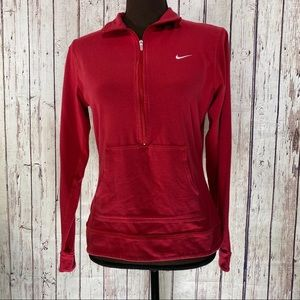 Nike red 1/2 zip pullover